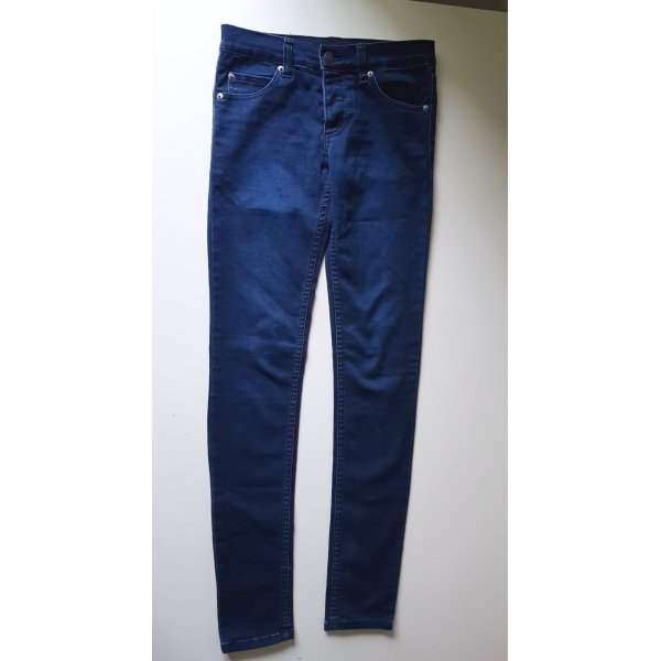 Mid Spray Indigo Satin Jeans