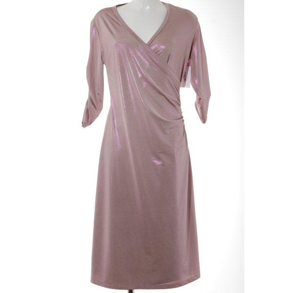 Midi-jurk stoffig roze elegant