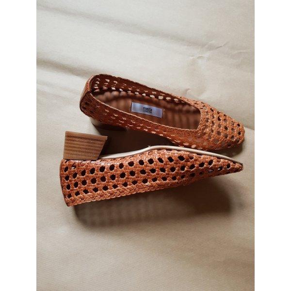 Miista Bequeme Schuhe mit Absatz aus Leder, handgemacht