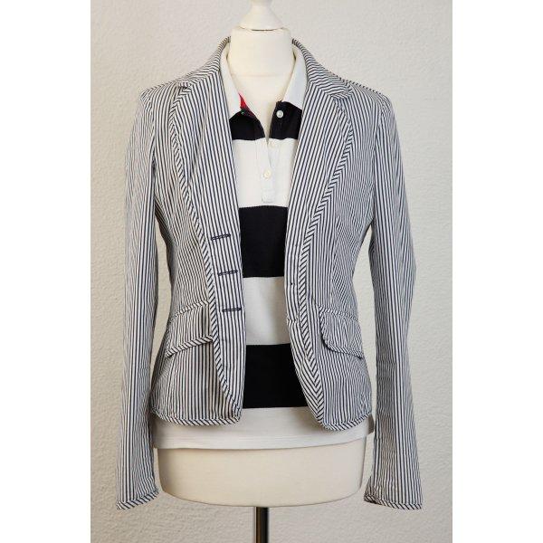 MILANO ITALY Blazer, Jacke Gr 36 S Streifen Markenqualität Blogger Business