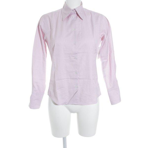 Milano Langarmhemd rosa-weiß Streifenmuster Elegant