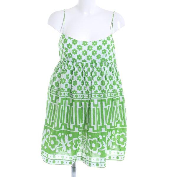 Milly A-Linien Kleid weiß-grün
