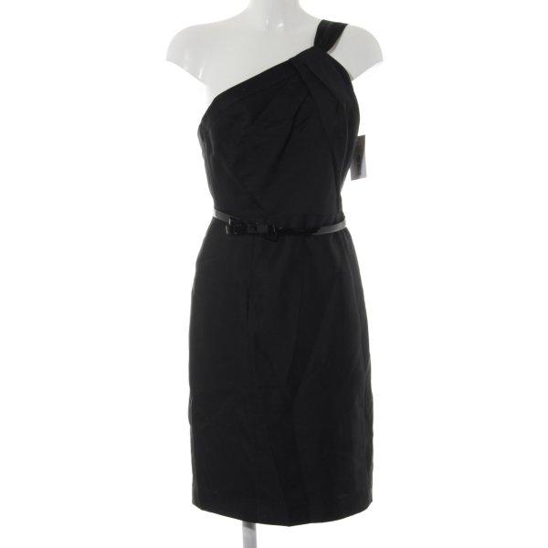 Milly One-Shoulder-Kleid schwarz Elegant