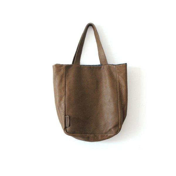 René Lezard Carry Bag grey brown leather