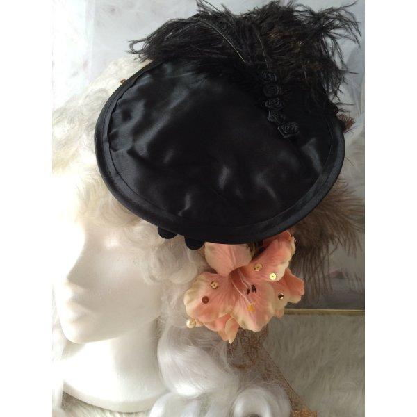 Minihat Wedding Barockstil Gothic schwarz Feder