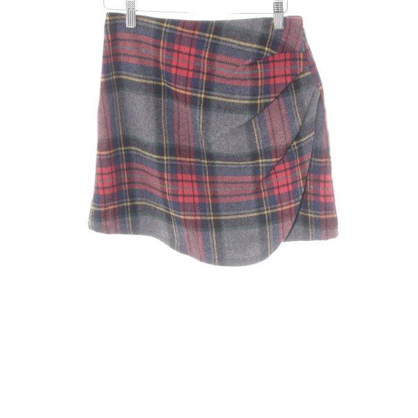 Mini-jupe motif à carreaux style décontracté