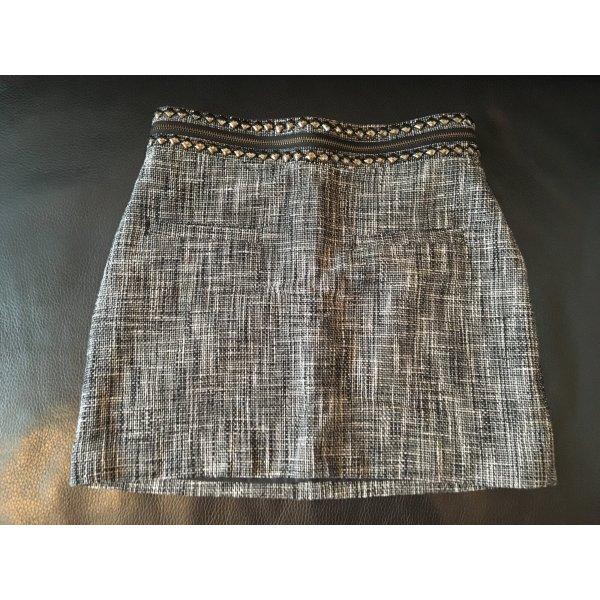 Minirock mit silbernem Bund von H&M