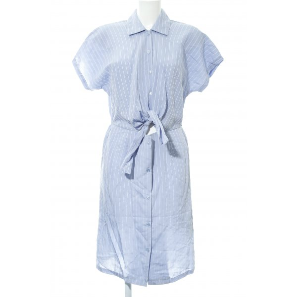 Mint&berry Hemdblusenkleid hellblau-weiß Streifenmuster Marine-Look