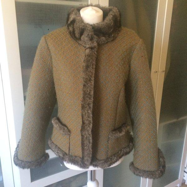 MINX Fake Fur Jacke Gr. 40 aus Wolle top