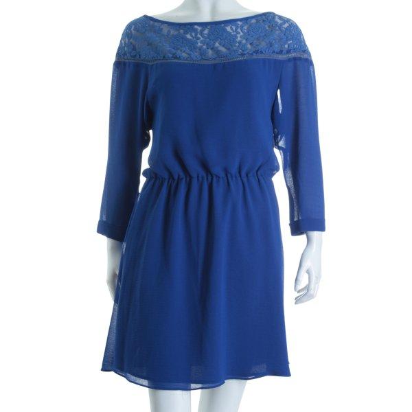 Mismash Langarmkleid blau Romantik-Look