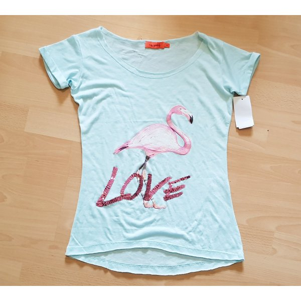 MISS GOODLIFE T-SHIRT 'LOVE FLAMINGO' sommer hippie Ibiza coachella