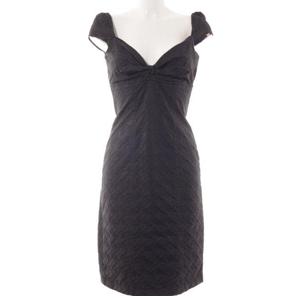 Miss Sixty Vestido bustier negro estampado a lunares look efecto mojado