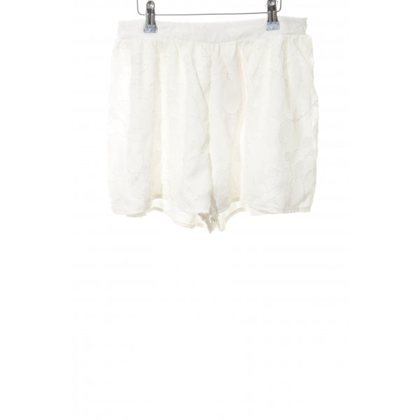Missguided Shorts weiß florales Muster Casual-Look
