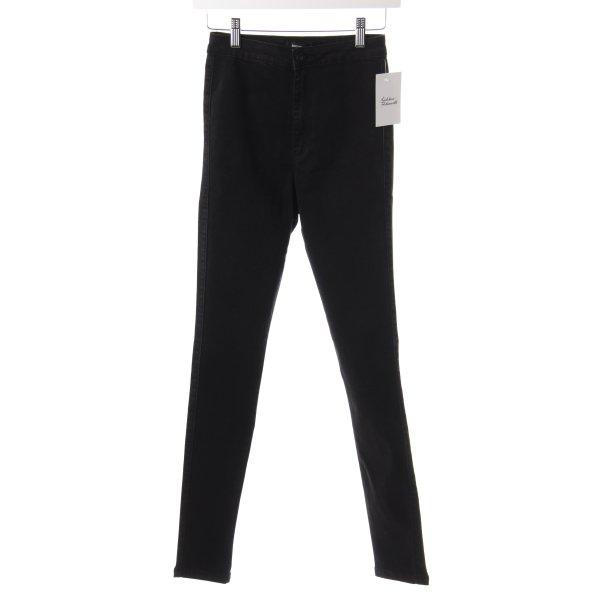 Missguided Stretch Jeans schwarz