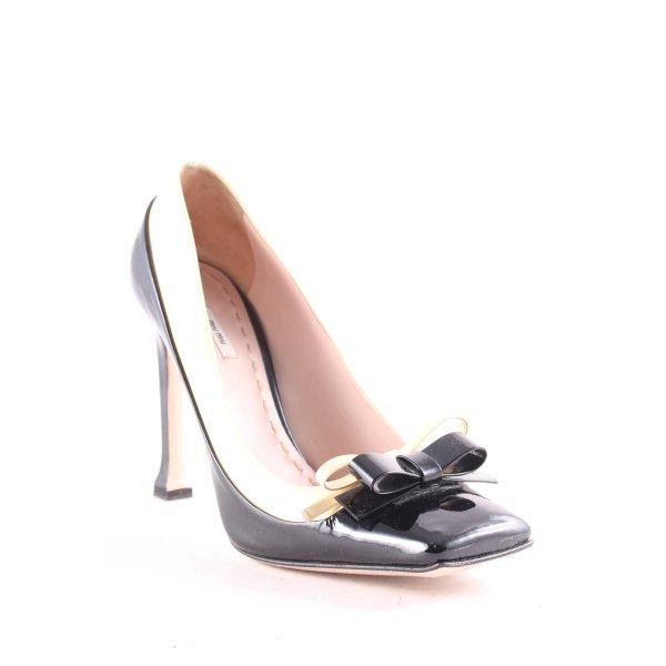 Miu Miu High Heels schwarz-hellbeige extravaganter Stil