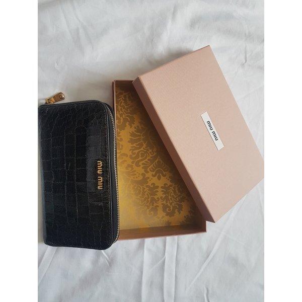 Miu Miu Portemonnaie schwarz und weiß