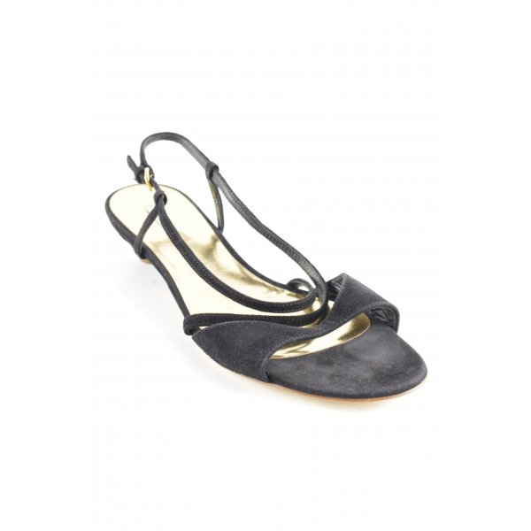 Miu Miu Strapped High-Heeled Sandals black-gold-colored elegant