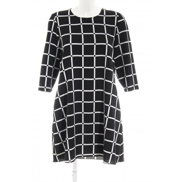 MNG Sheath Dress black-white check pattern business style