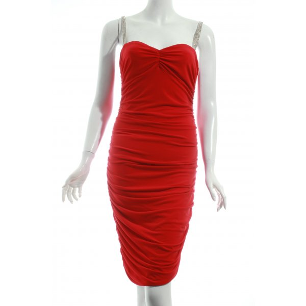 Moda International Stretchkleid rot Elegant