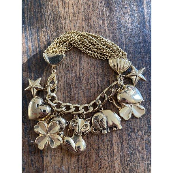 Modeschmuck Armband bettelarmband goldfarben