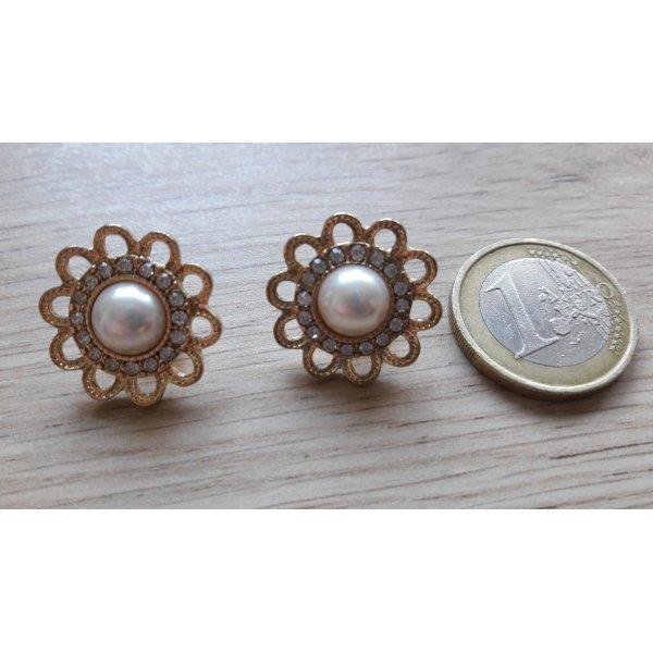 Bottone oro-bianco Metallo