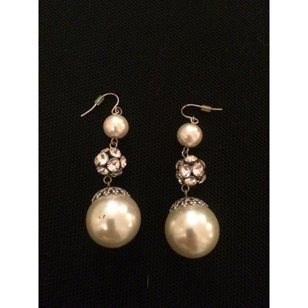 Modeschmuck Ohrhänger mit Perle