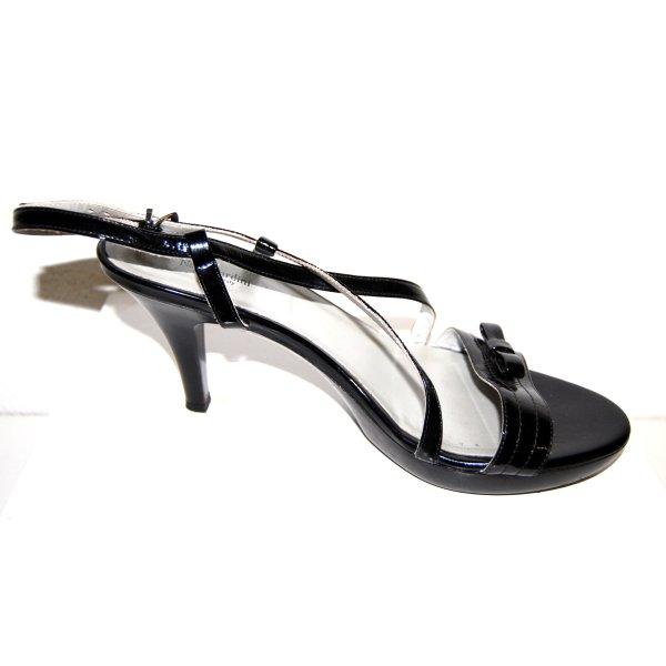 modische - Riemchen - Sandalette - schwarz - Leder von Nero Giardini - Gr. 41