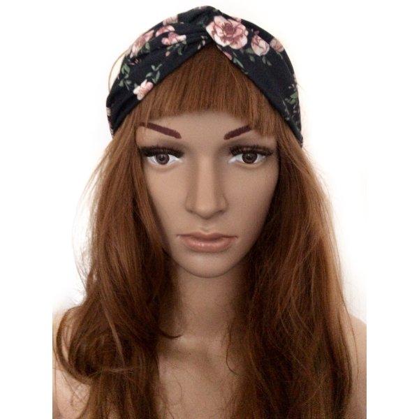 Modisches Haarband mit Knoten und Blumen-Print