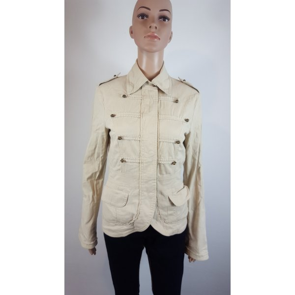 Mötivi Damen Militäry Design Jacke beige Übergangsjacke Größe 38