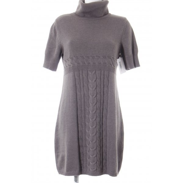 Monari Sweater Dress grey brown cable stitch casual look