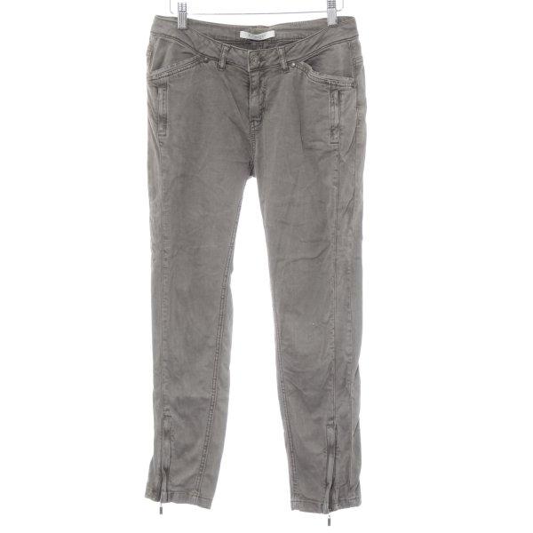 Monari Skinny Jeans grau Farbverlauf schlichter Stil