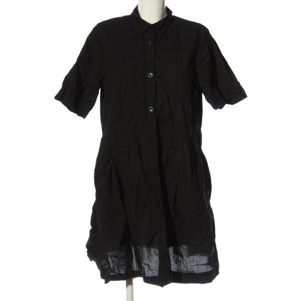 Monki Hemdblusenkleid schwarz Casual-Look