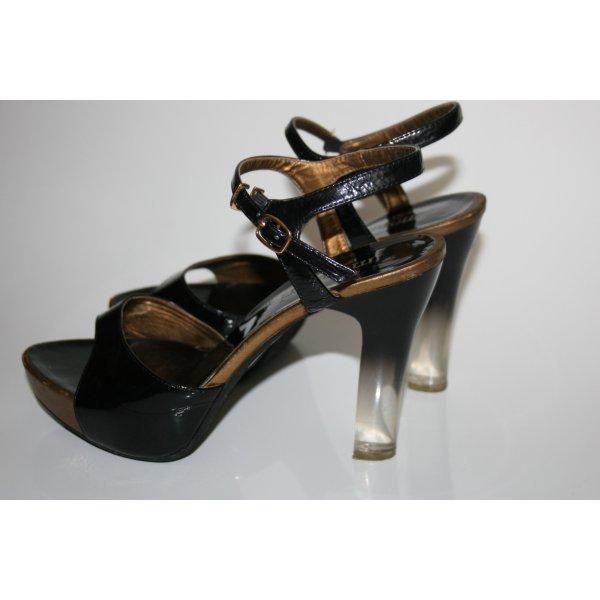 MONNARI Sandaletten schwarz mit transparentem absatz Party-Look gr.38