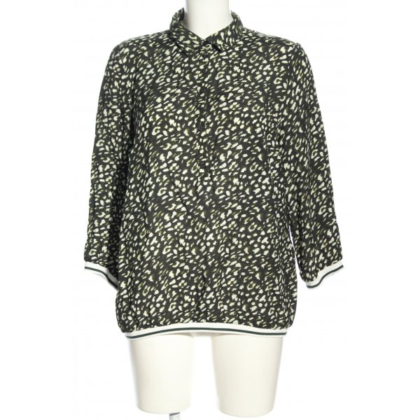 More & More Langarm-Bluse Allover-Druck Casual-Look