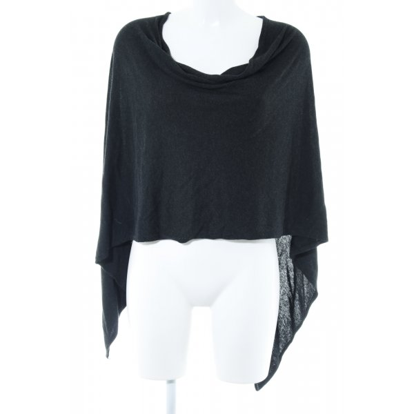 More & More Poncho antraciet casual uitstraling