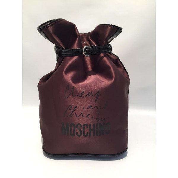 Moschino Cheap and Chic Rucksack braun glänzend