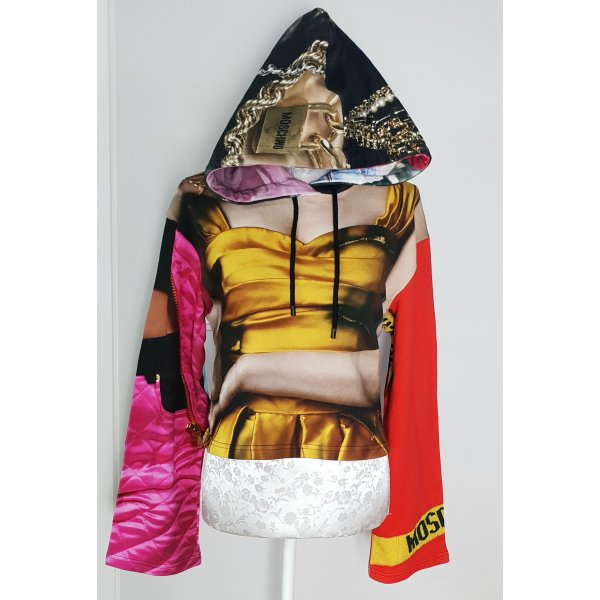 moschino Couture Cropped Hoodie Sweater