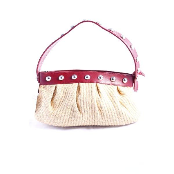 Moschino Hobo dunkelrot-beige Street-Fashion-Look