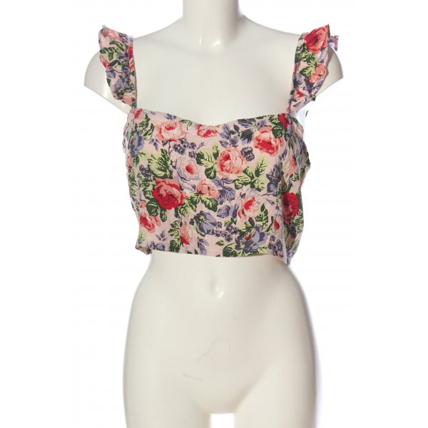 Motel Cropped Top Allover-Druck Casual-Look