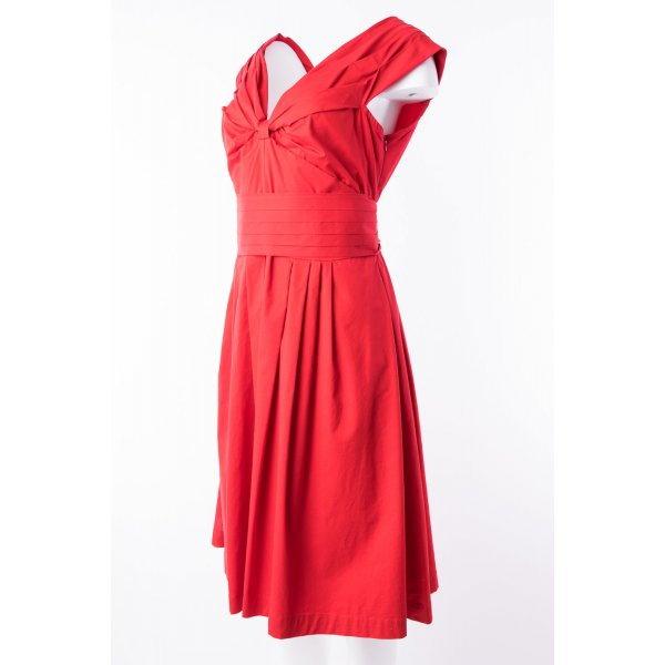 MR CAT BY ISABEL DE PEDRO - Ärmelloses Kleid Rot mit Scherp