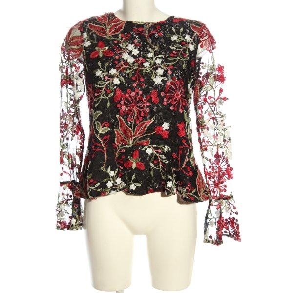 Mrs & HUGS Schlupf-Bluse mehrfarbig Elegant