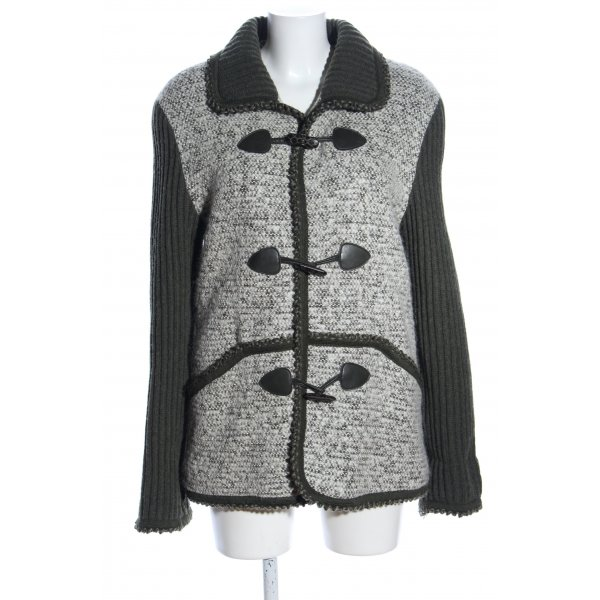 Ms mode Wollmantel Webmuster Casual-Look