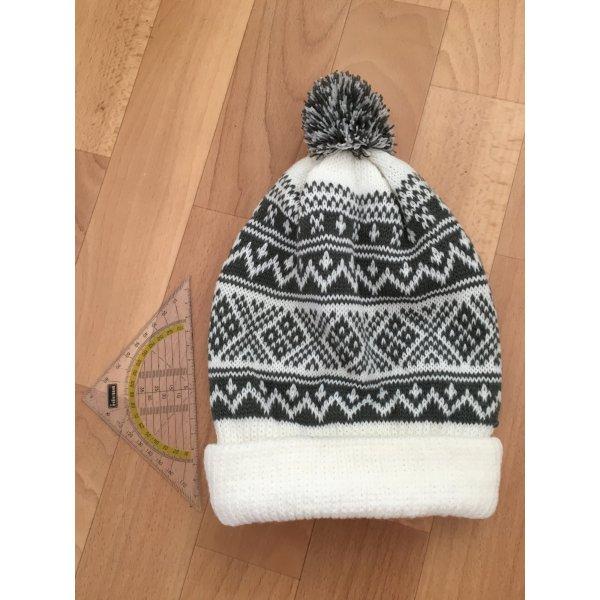 C&A Chapeau en tricot gris-blanc acrylique