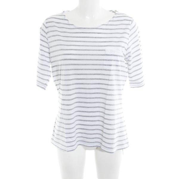 munich freedom T-Shirt weiß-hellgrau Inside-Out-Druck Casual-Look