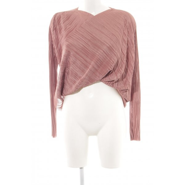 NA-KD Langarm-Bluse roségoldfarben-rostrot Casual-Look