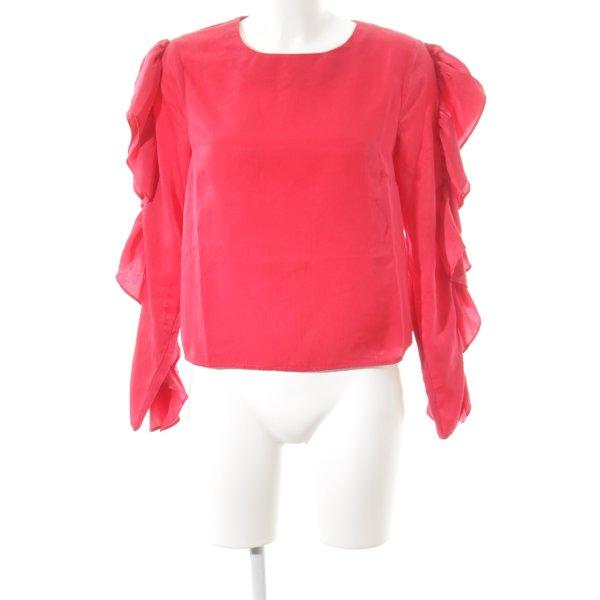 NA-KD Langarm-Bluse ziegelrot minimalistischer Stil