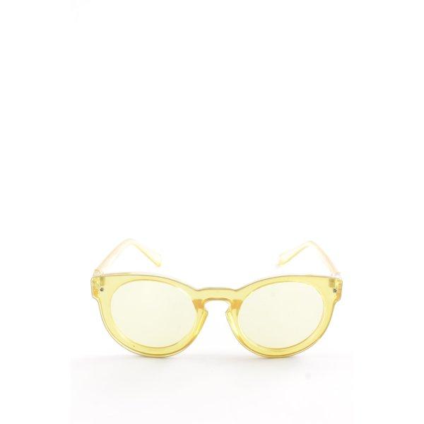 NA-KD runde Sonnenbrille blassgelb 70ies-Stil
