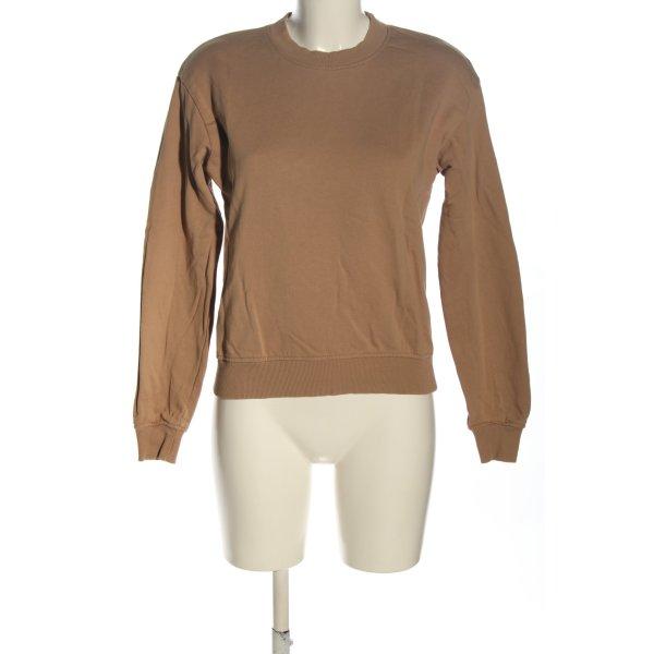NA-KD Sweatshirt braun Casual-Look
