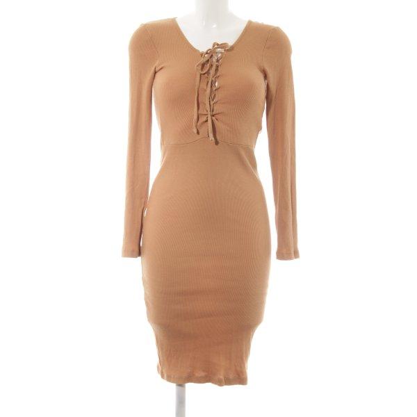 Nakd Jerseykleid beige schlichter Stil