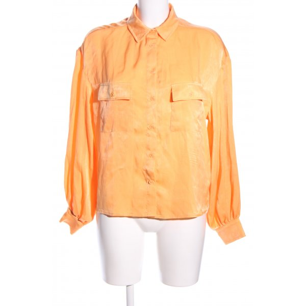 Nakd Langarm-Bluse hellorange Business-Look